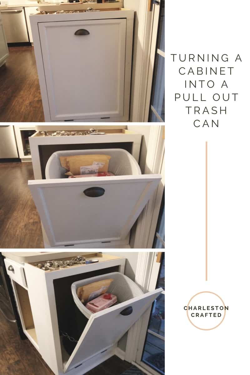 Gentil Turning A Cabinet Into A Pull Out Trash Can   Charleston Crafted