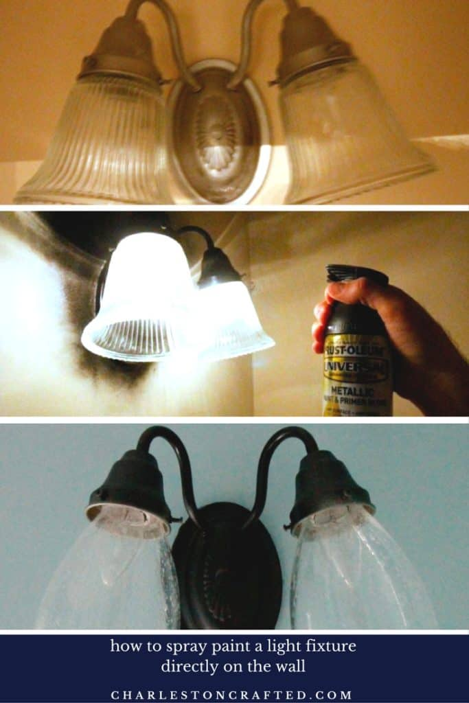 How to Update a light fixture with spray paint - charleston crafted