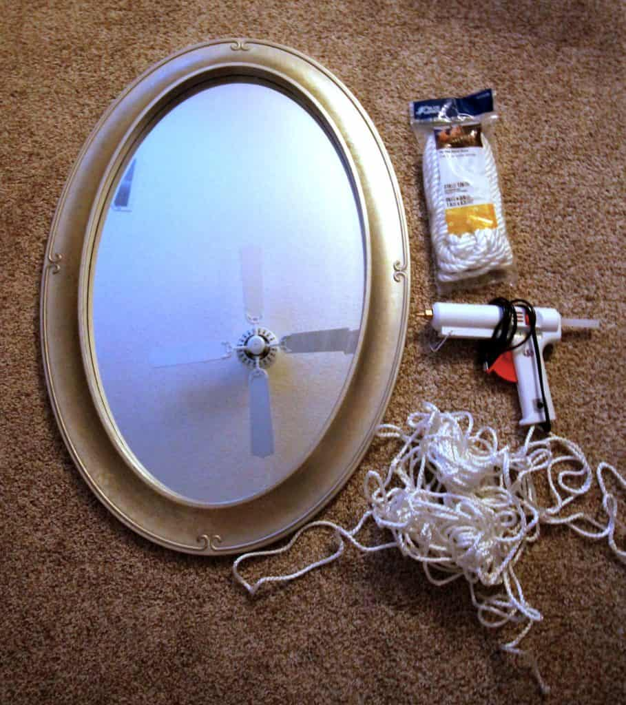 DIY Round Rope Mirror Tutorial - Charleston crafted