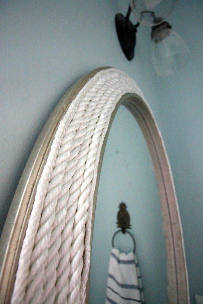 DIY Round Rope Mirror Tutorial - Charleston crafted