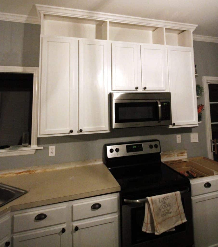 Overhead Kitchen Cabinet: How To Extend Kitchen Cabinets To The Ceiling