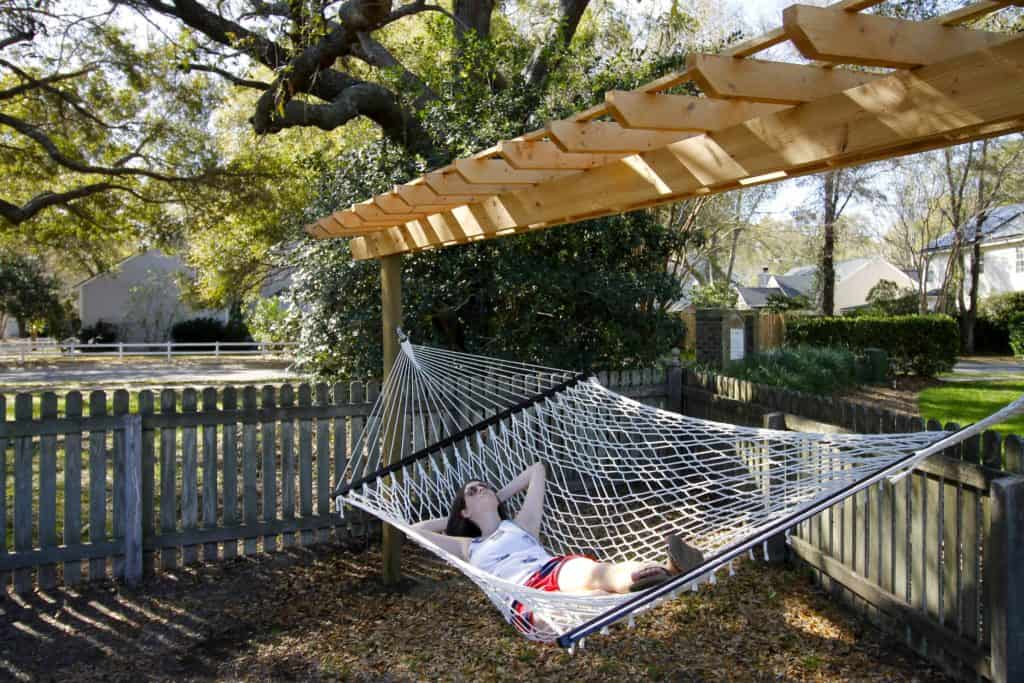 DIY Wooden Hammock Stand - Charleston Crafted