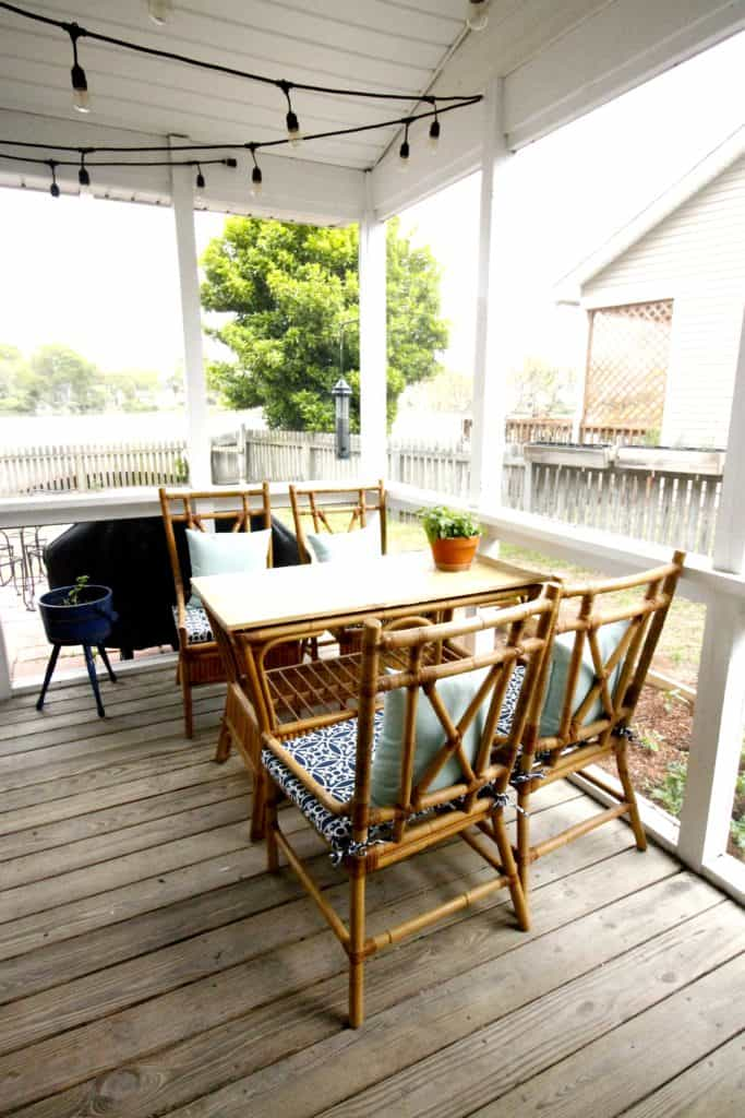 An Inexpensive Alternative to a Glass Tabletop on an Outdoor Table - Charleston Crafted