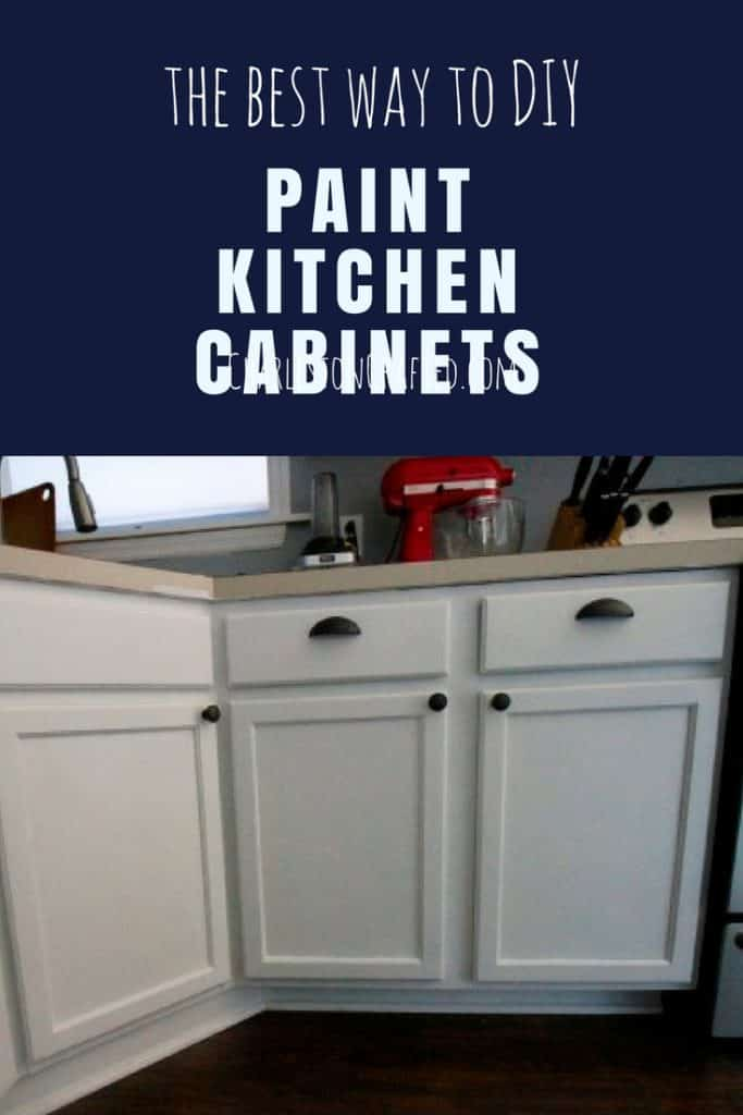 The BEST way to DIY paint your kitchen cabinets, for under $30! via Charleston Crafted
