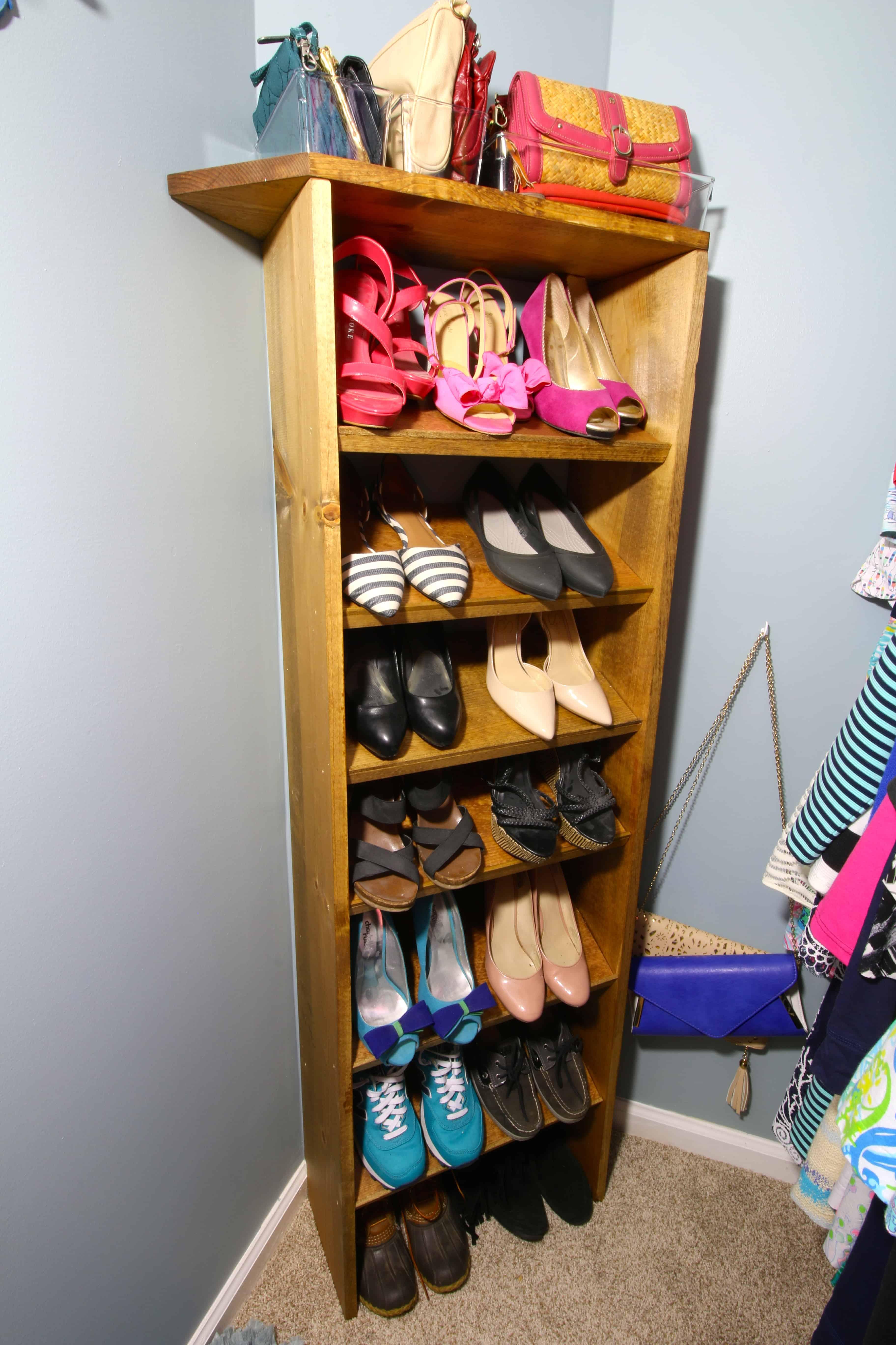ORC: Custom Wooden Shoe & Handbag Storage - Charleston Crafted