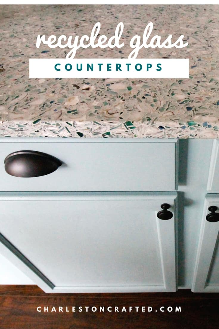 All of the Details of our Recycled Glass Counter Tops!
