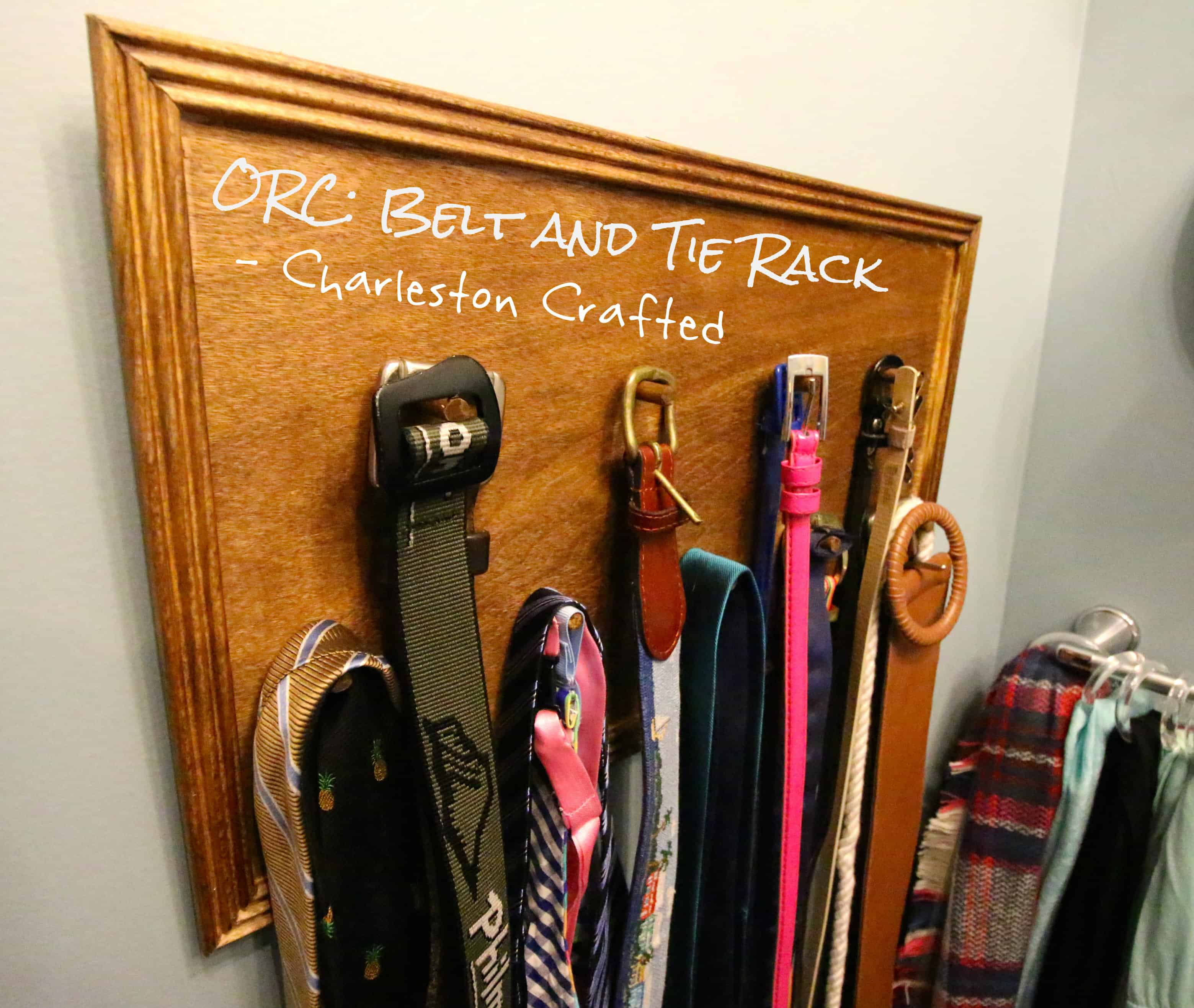 ORC: Belt and Tie Rack - Charleston Crafted