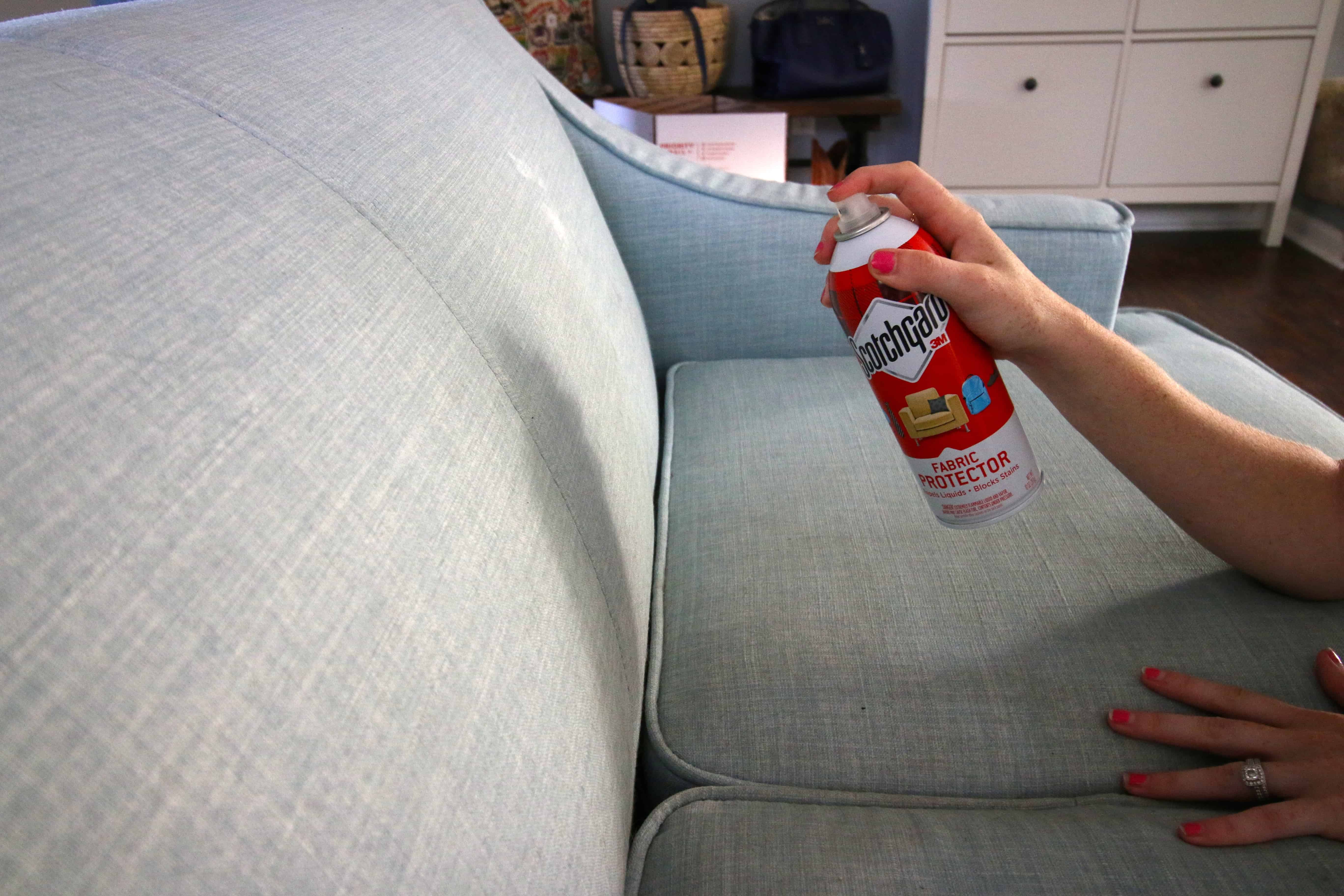 how to scotchguard my couch