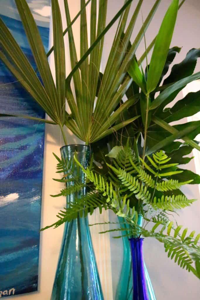 Tropical Summer Palm Leaf Mantel - Charleston Crafted