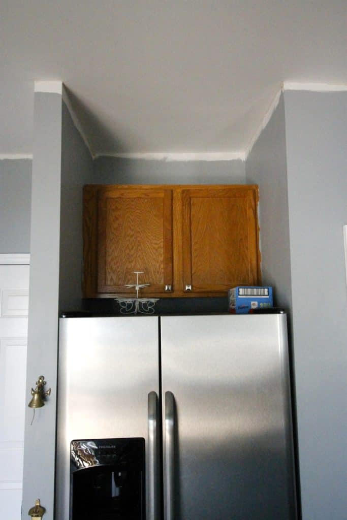 Relocating the Cabinet Above the Fridge - Charleston Crafted
