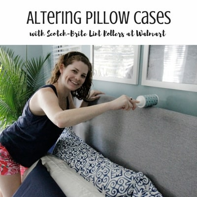 Altering Pillow cases with Scotch Brite - Charleston Crafted