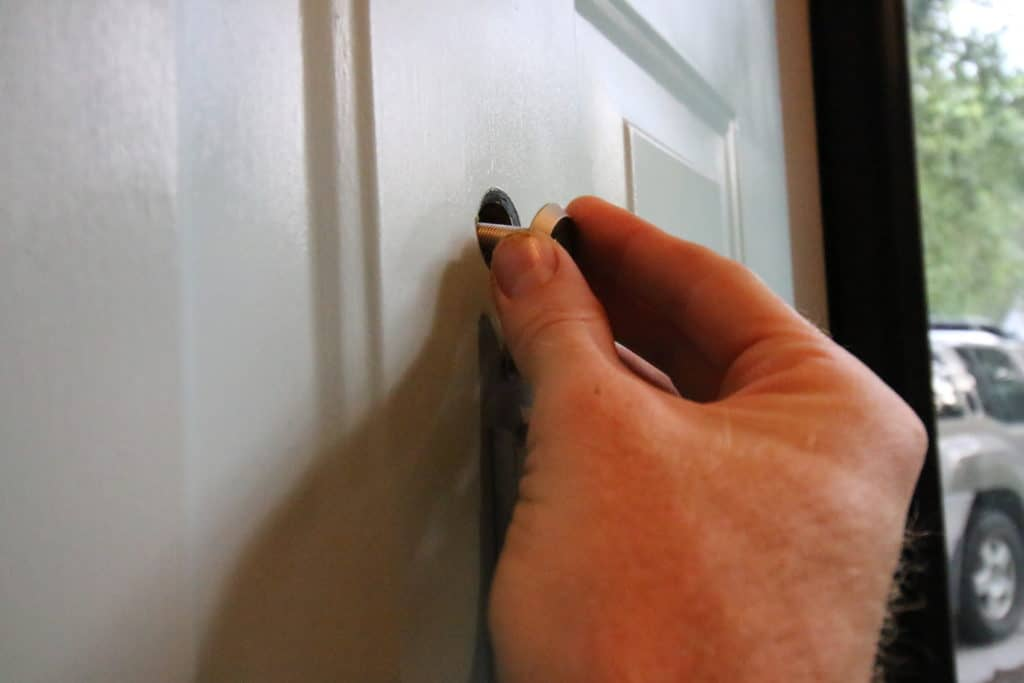 How To Replace a Front Door Peep Hole - Charleston Crafted