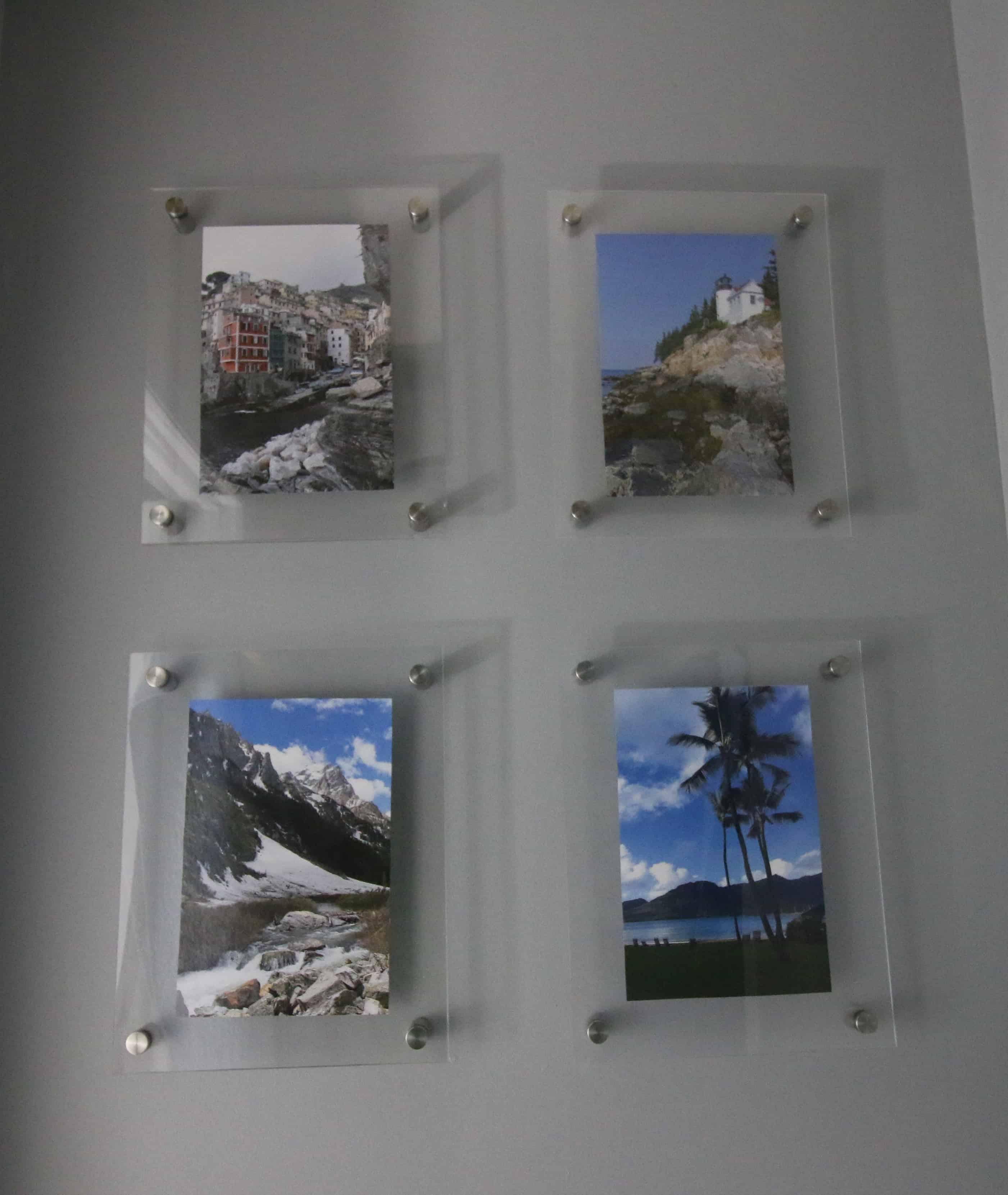 DIY Knock Off Wall Mounted Acrylic Frame Gallery Wall