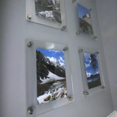 DIY Knock Off Wall Mounted Acrylic Frame Gallery Wall