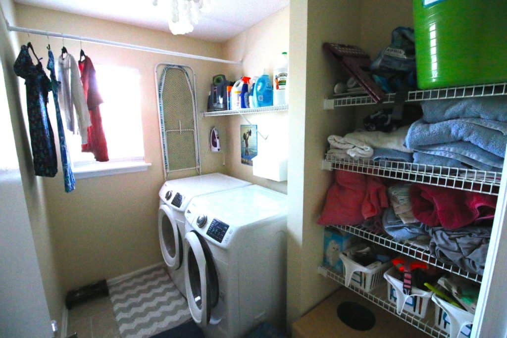 Laundry Room Before - Charleston Crafted