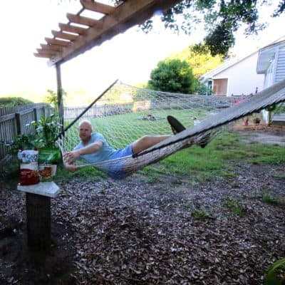 DIY Outdoor Hammock Side Table