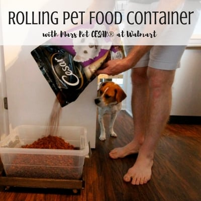 Rolling Pet Food Container with Cesar - Charleston Crafted