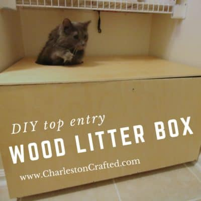 DIY Wooden Top Entry Cat Litter Box