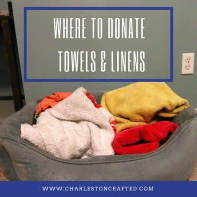 Where to Donate Old Linens and Towels