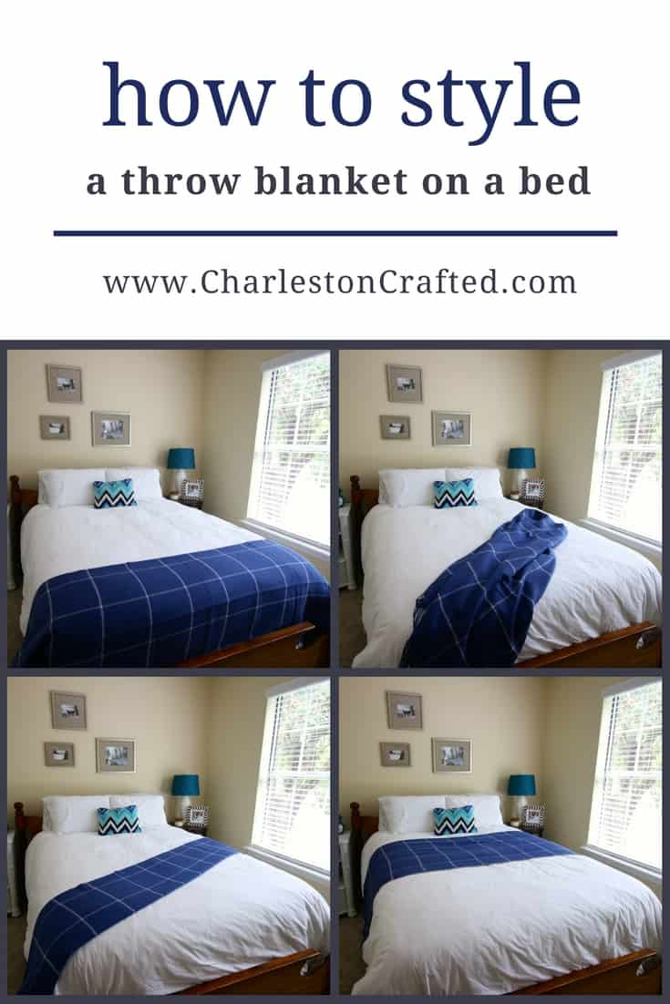 how to style a throw blanket on a bed - charleston crafted