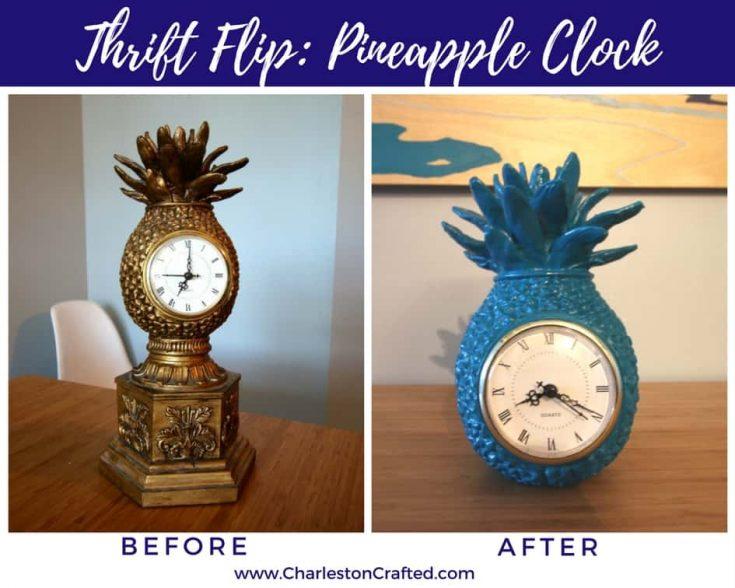 Thrift Flip: Pineapple Clock Makeover