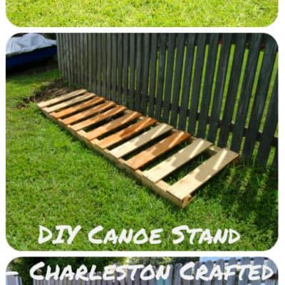 DIY Canoe Stand