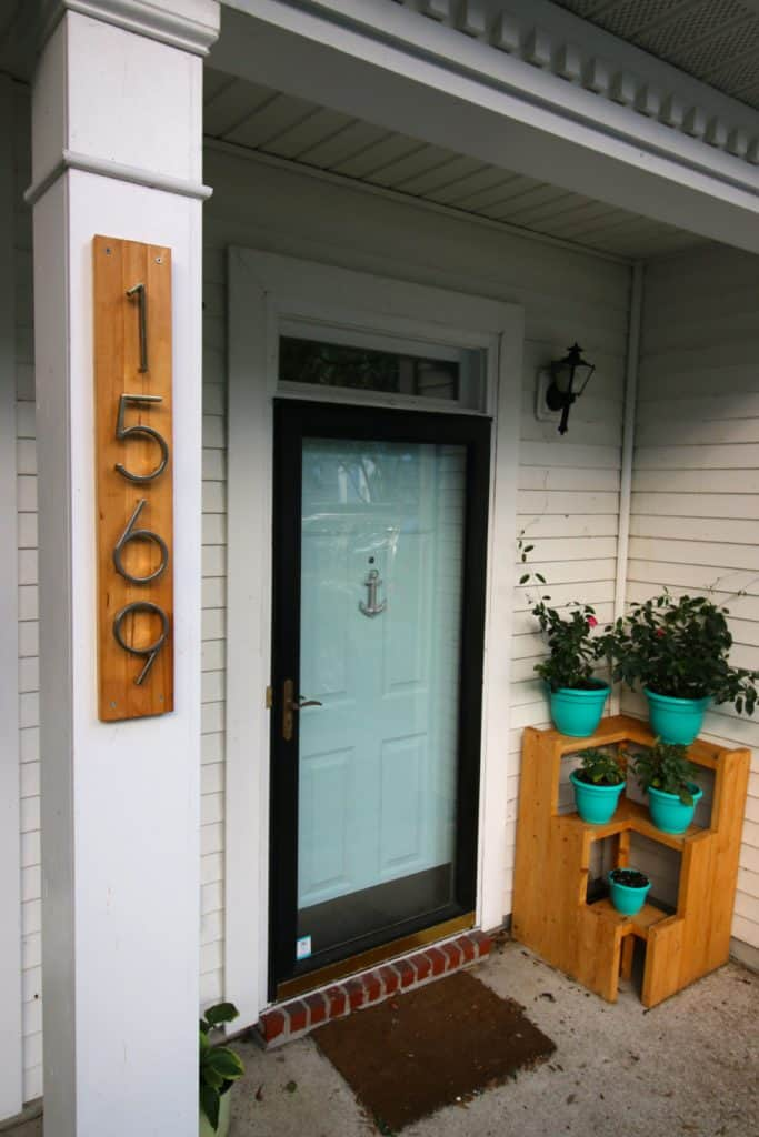 Modern Address Sign - Charleston Crafted