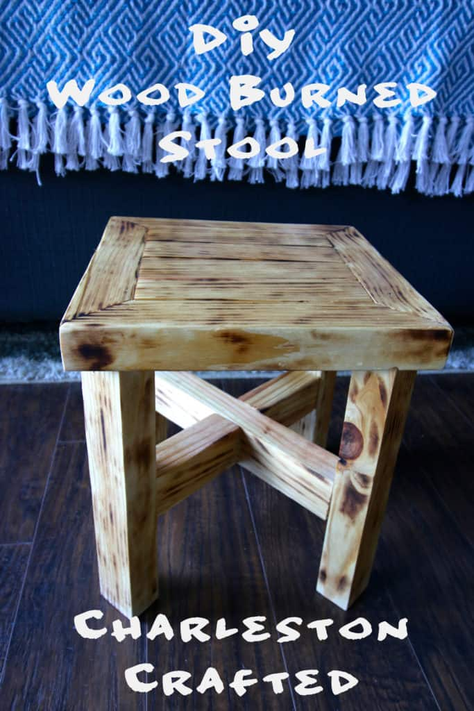 DIY Wood Burned Stool - Charleston Crafted