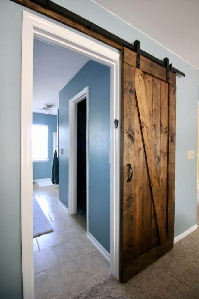 Adding a barn door lock - Charleston Crafted