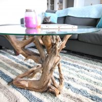 how to make a driftwood coffee table