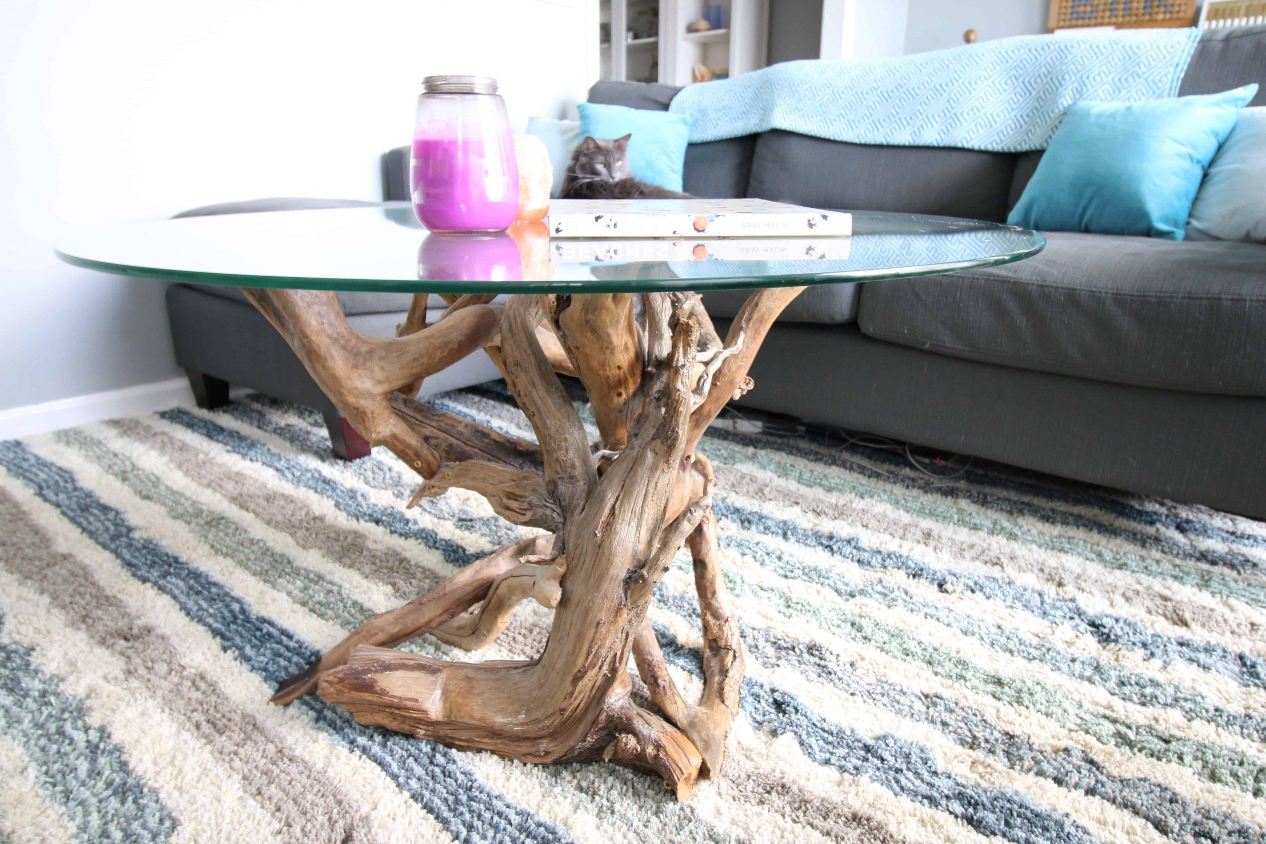 DIY Driftwood Coffee Table - Charleston Crafted