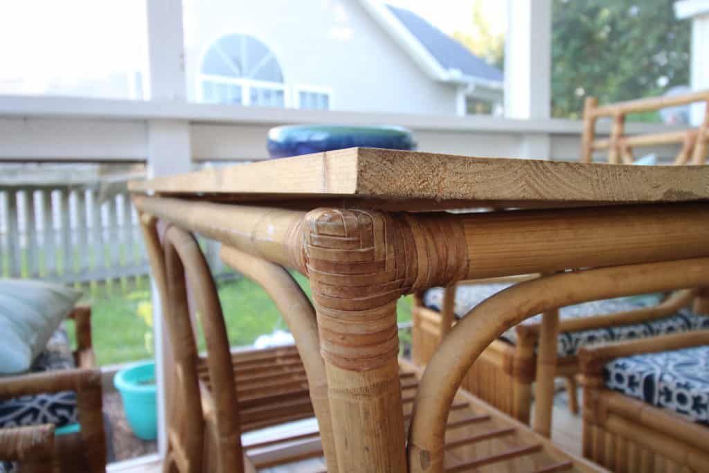 Can you use a wooden table top outside? via Charleston Crafted