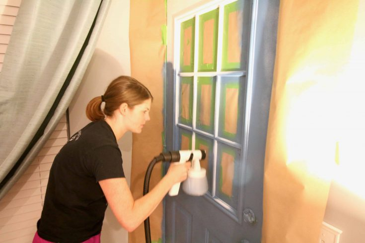 How To Paint an Exterior Door With a Paint Sprayer