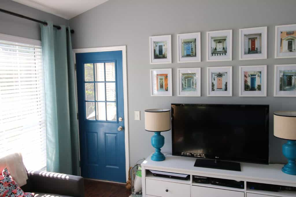 How To Paint an Exterior Door With a Paint Sprayer - Charleston Crafted