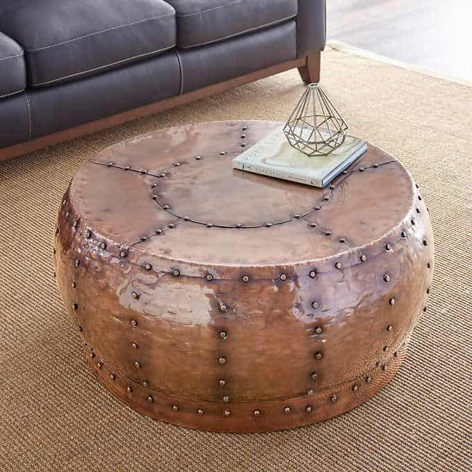 korba coffee table - Gorgeous Living Room Furniture that you wouldn't believe came from COSTCO! via Charleston Crafted