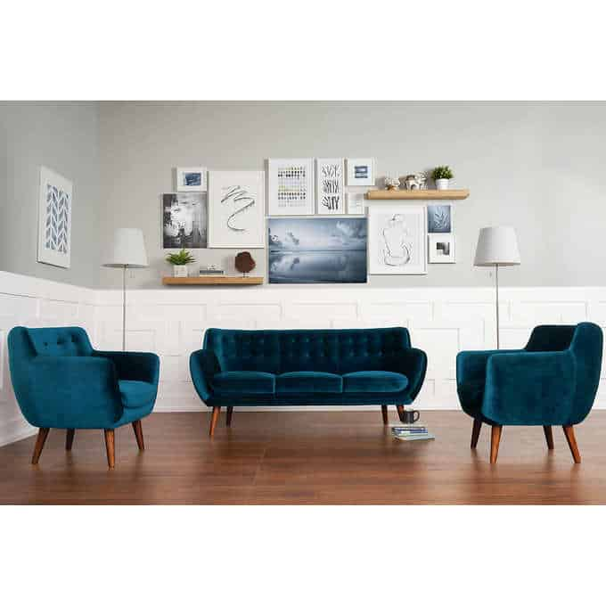 nelson living room set - Gorgeous Living Room Furniture that you wouldn't believe came from COSTCO! via Charleston Crafted