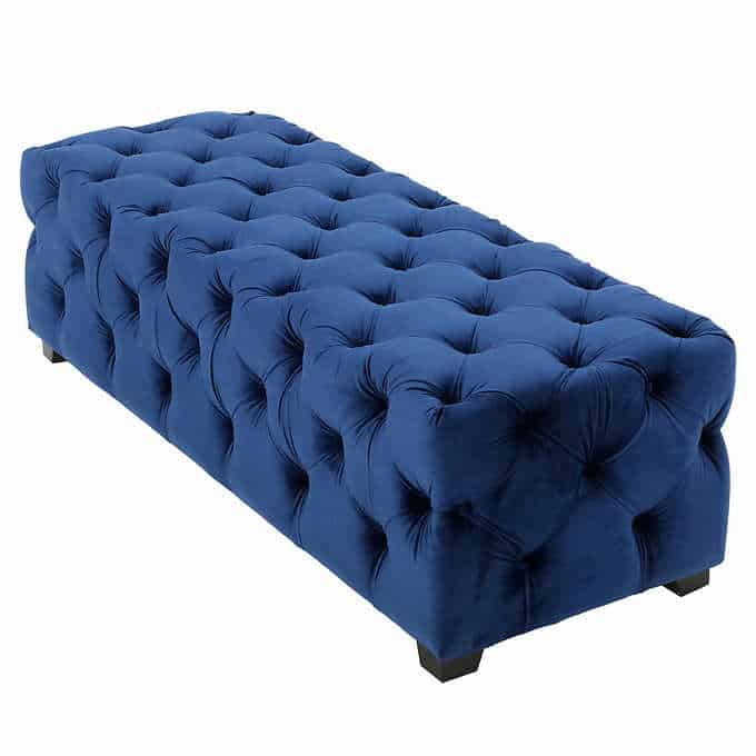 costa tufted bench - Gorgeous Living Room Furniture that you wouldn't believe came from COSTCO! via Charleston Crafted