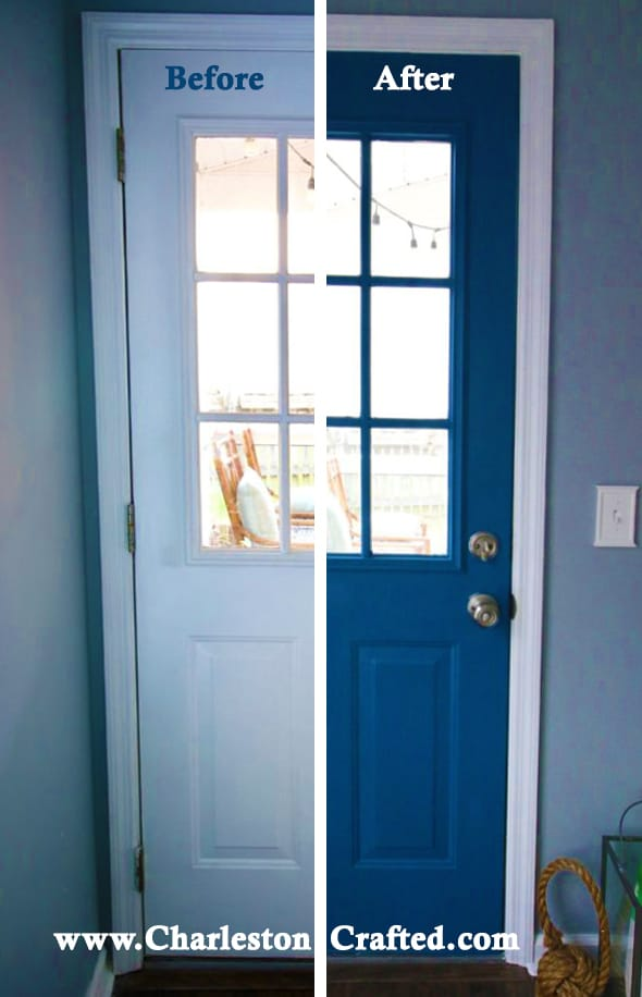How To Paint An Exterior Door With A Paint Sprayer Charleston Crafted