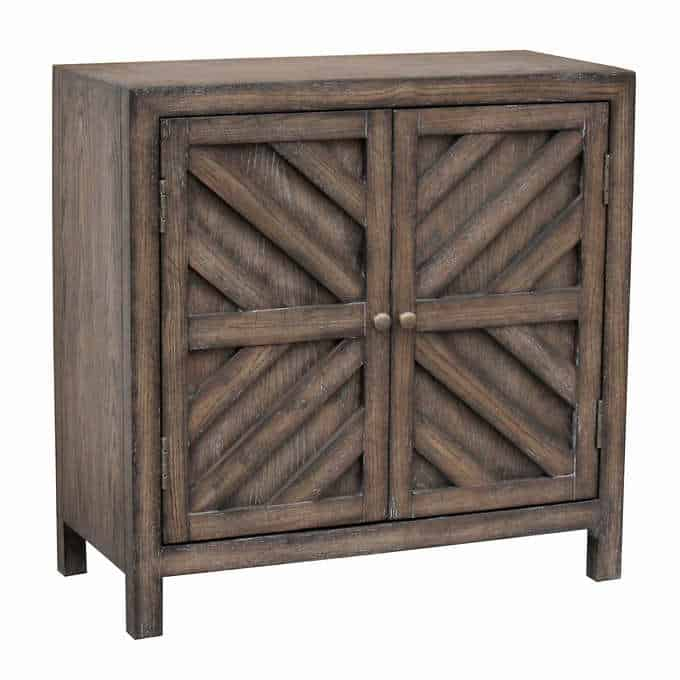 hayleigh cabinet - Gorgeous Living Room Furniture that you wouldn't believe came from COSTCO! via Charleston Crafted