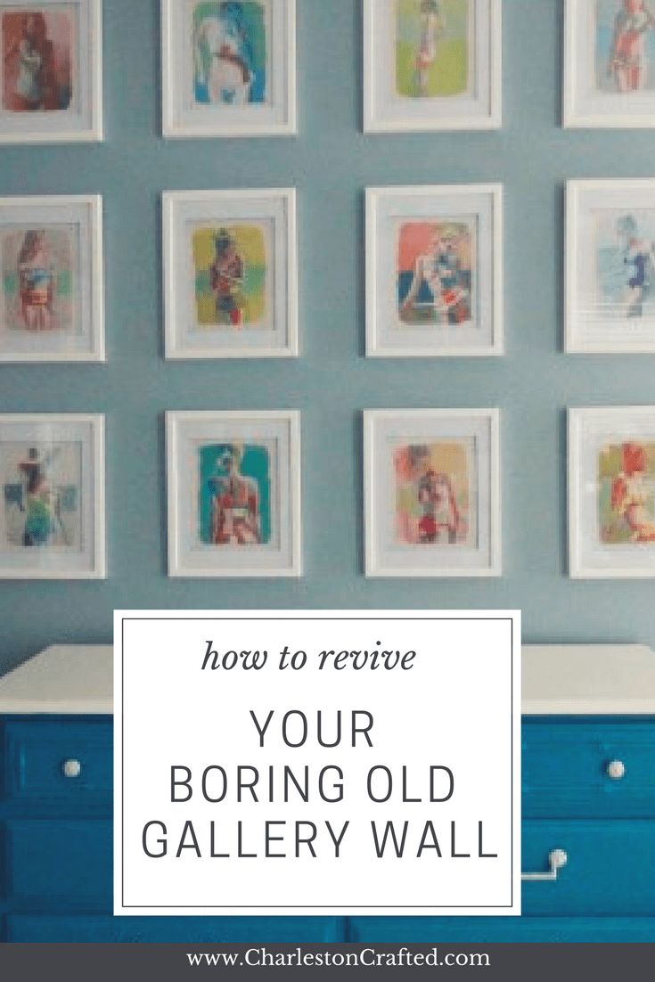 how to update your boring old gallery wall - via Charleston Crafted