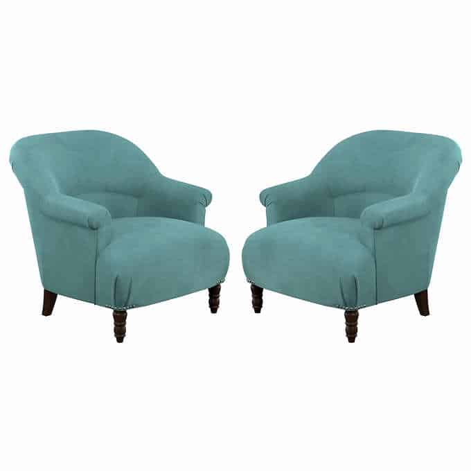 jackie chairs - Gorgeous Living Room Furniture that you wouldn't believe came from COSTCO! via Charleston Crafted