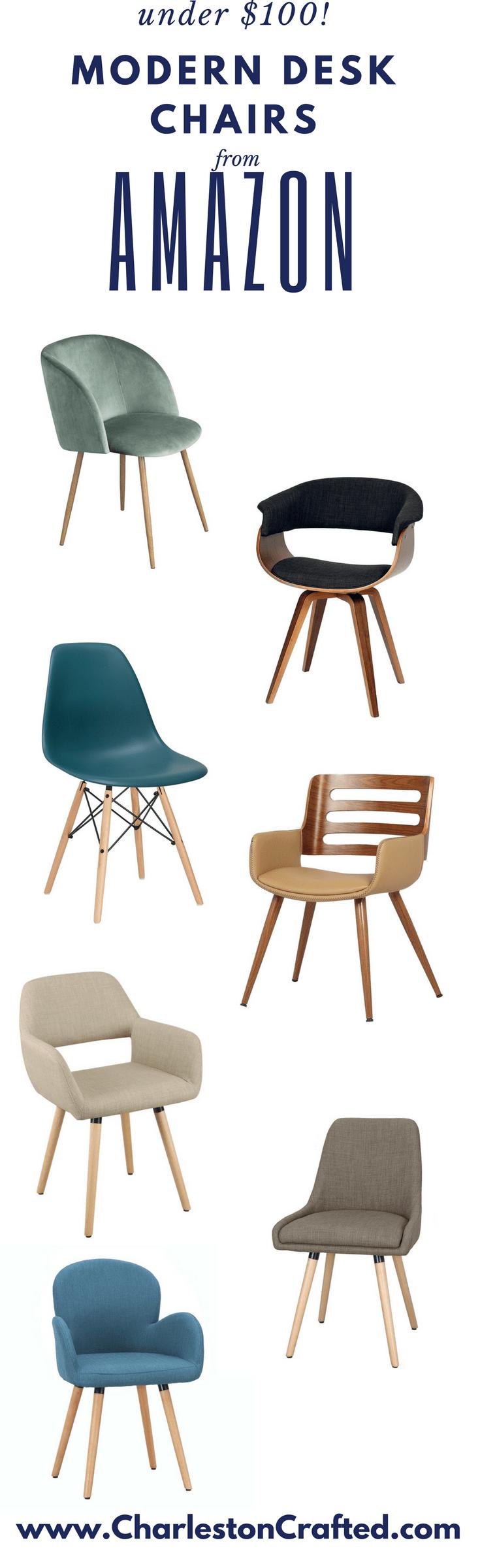 Modern Desk Chairs Under $100 on Amazon Prime - Charleston Crafted