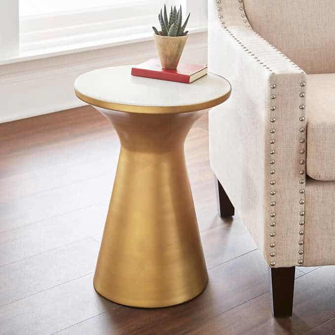 patna side table - Gorgeous Living Room Furniture that you wouldn't believe came from COSTCO! via Charleston Crafted