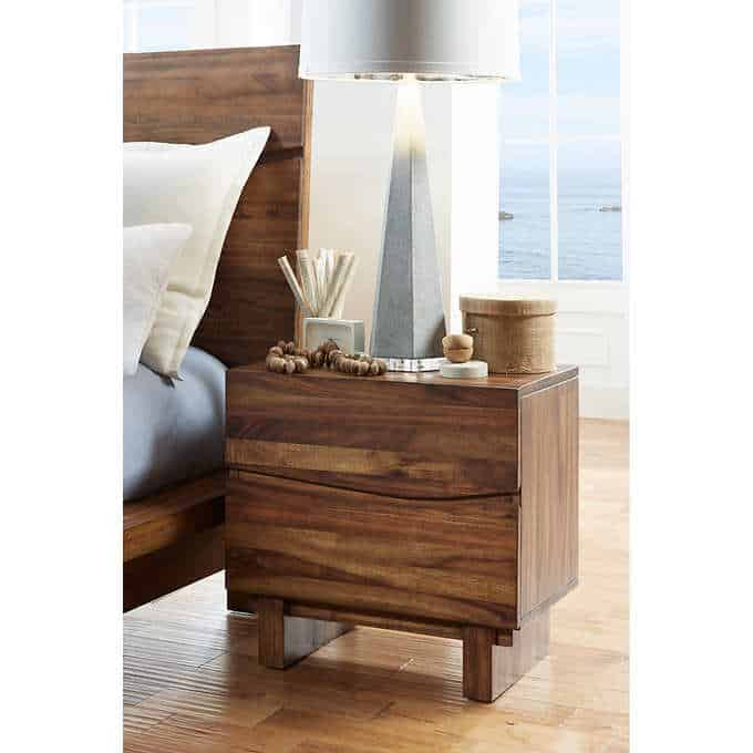 rivina night stand - Gorgeous Living Room Furniture that you wouldn't believe came from COSTCO! via Charleston Crafted