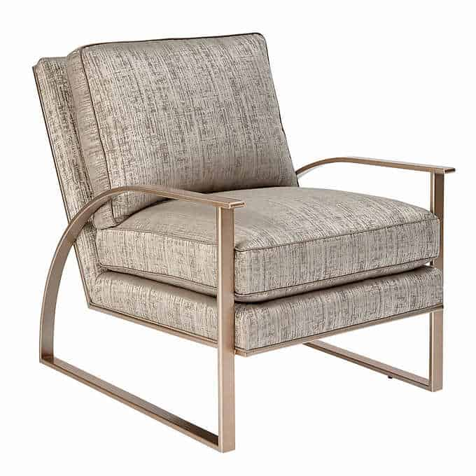 silver lake chair - Gorgeous Living Room Furniture that you wouldn't believe came from COSTCO! via Charleston Crafted