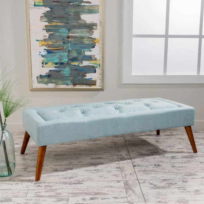 the ludlow bench - Gorgeous Living Room Furniture that you wouldn't believe came from COSTCO! via Charleston Crafted