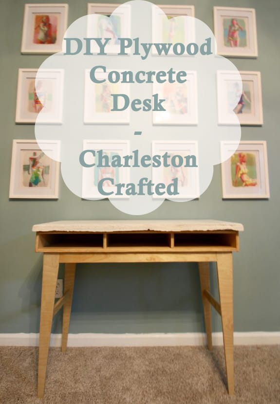 DIY Plywood Concrete Desk - Charleston Crafted