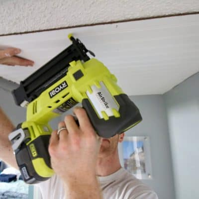 How to Cover Popcorn Ceilings with Beadboard