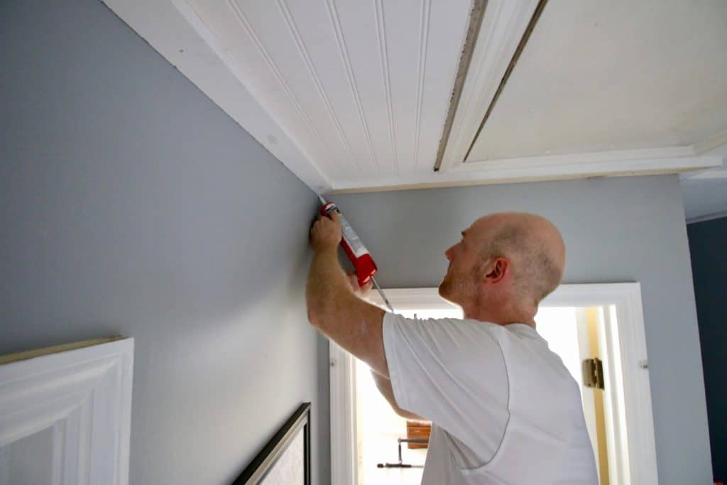 How To Cover Popcorn Ceilings With Beadboard Charleston Crafted