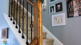 How to Replace Wooden Balusters with Iron the Easy and Cheap Way!